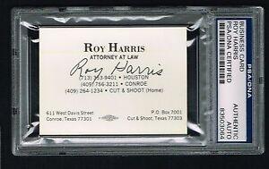 Roy Harris Autographe Signe Auto Carte De Visite