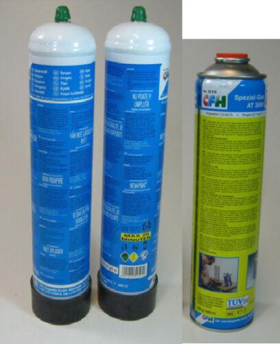 2x Hochleistungsgas AT 3000 für Schweißfix  SF 3100 4x Sauerstoffflaschen CFH