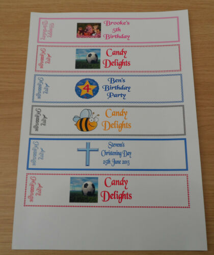 LABELS Birthday Party Favours 20 Personalised Fruitshoot  WRAPPERS