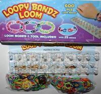 Loom Bands Kit Colourful Rainbow Rubber Loopy Set Bracelets Maker Fashion BANDZ