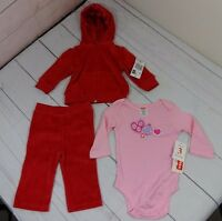 Fisher Price Girls 3 Piece Outfit Size 0-3 Months - A1467