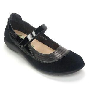 NAOT-Kirei-Mary-Jane-Women-039-s-Size-38-US-7-5-8-Black-Leather-Comfort-Shoes
