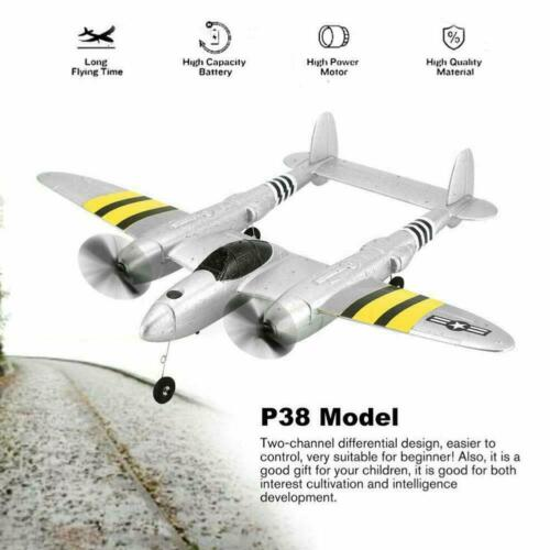 P38 2.4G RC Plane Glider Airplane Remote Control Aircraft Wing Fixed Drone Z6X0
