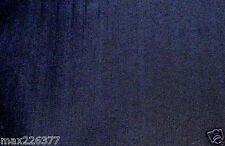 "60""width Indigo very dark Blue 3% Stretch Denim Woven Fabric By the Yard"