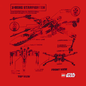 Details about Star Wars Lego X-WING STARFIGHTER BLUEPRINT T-Shirt NWT on b-wing schematics, at-at schematics, a wing fighter schematics, tie interceptor schematics, minecraft schematics, y-wing schematics, halo warthog schematics,