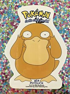 Old-1999-Psyduck-Pokemon-Sticker-Nintendo-4-034-Anime-Laptop-Bumper-Scooter