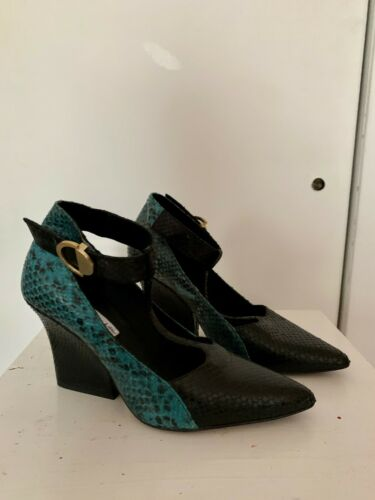 &otherstories Womens Block Heel Snakeskin Print Mu
