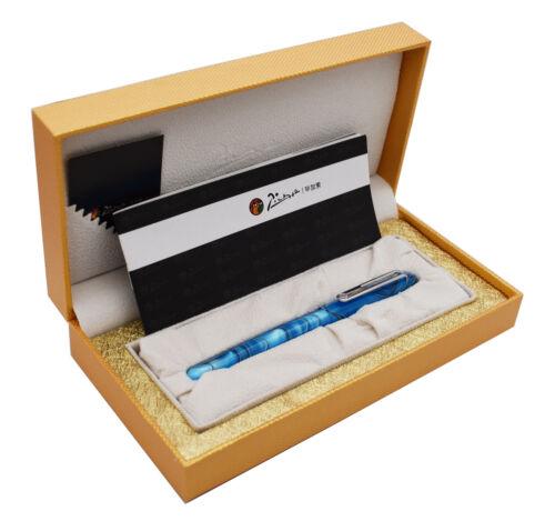 New Picasso Celluloid Fountain Pen Aurora Sky Blue PS-975 Iridium Fine Gift Pen