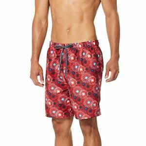 Speedo Mens Swim Trunk Short Length Redondo Printed