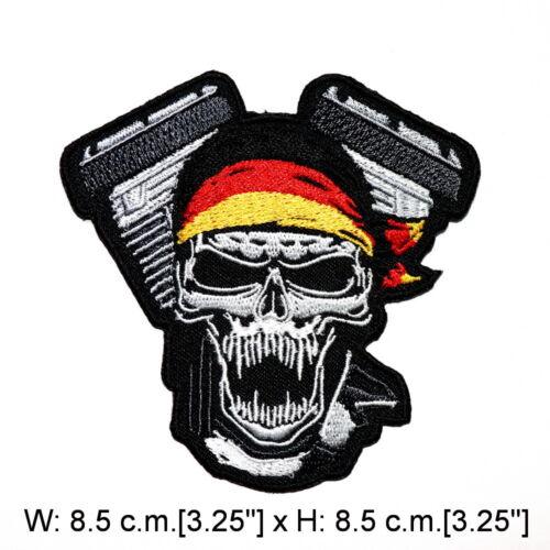 Motos Biker Chopper Rock Punk Crâne Tatouage bricolage Jeans Veste iron on patch