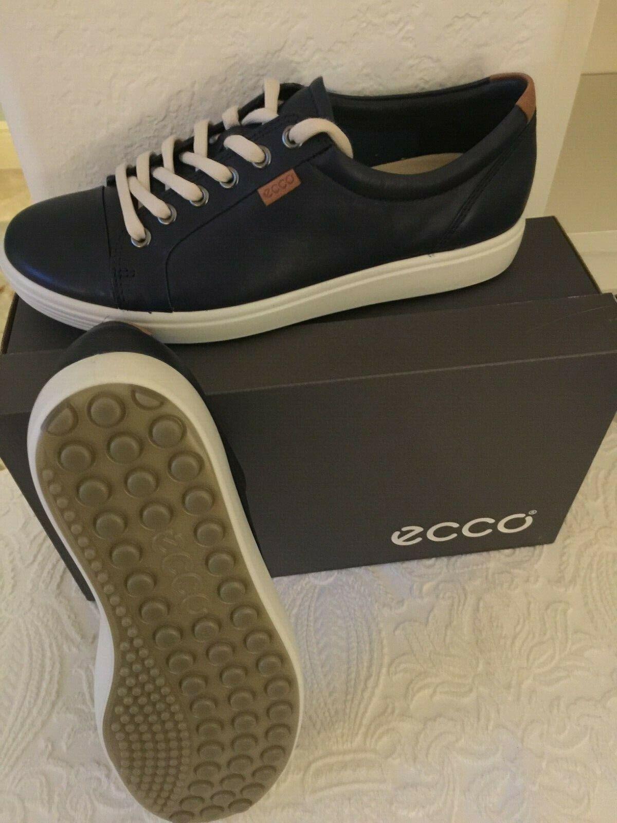 NIB WOMEN ECCO SOFT 7 LADIES SHOES FOOTWEAR SNEAKERS BLACK EU37 6-6.5