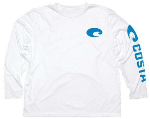 Costa Technical Performance Fishing Shirt Pick Size-Free Ship Royal UPF 50