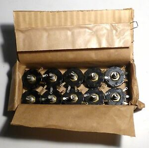 10-potentiometres-bobines-210-ohms-3-watts-NOS-qualite-militaire-US