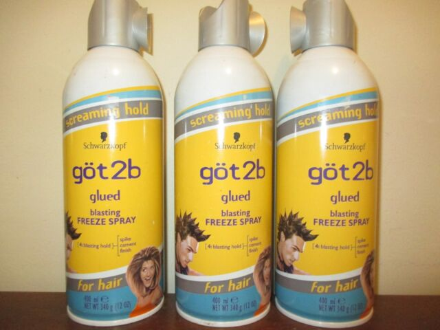 Lot of 3 GOT 2B GLUED BLASTING FREEZE SPRAY 12 oz