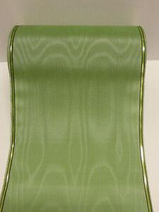 1Rollen Moiré Kranzschleifen<wbr/>band  Kranzband mintgrün 17,5 cm