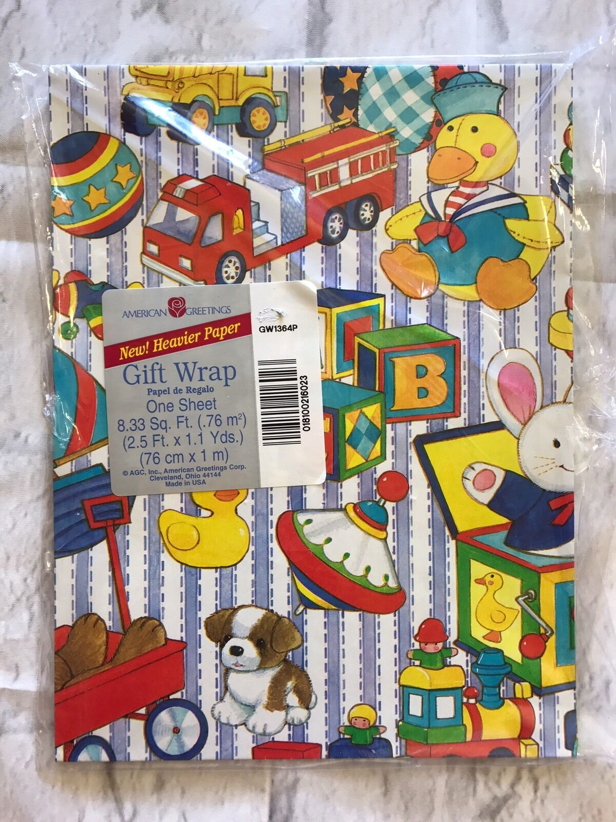 Gift wrap paper collectibles american greetings toys gift wrap one sheet new m4hsunfo