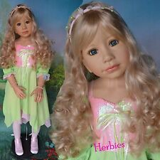 "Masterpiece Dolls Sleeping Beauty by Monika Levenig, 48"" Blonde, Blue Eyes"
