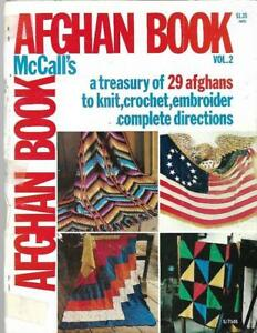 McCall-039-s-AFGHAN-BOOK-Vol-2-1975-29-Patterns-to-Knit-Crochet-Embroider