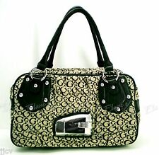 18542238a1f0 GUESS Valerie Purse BLACK SI256017 Handbag Tote Bag Satchel Logo Sac NWT   110
