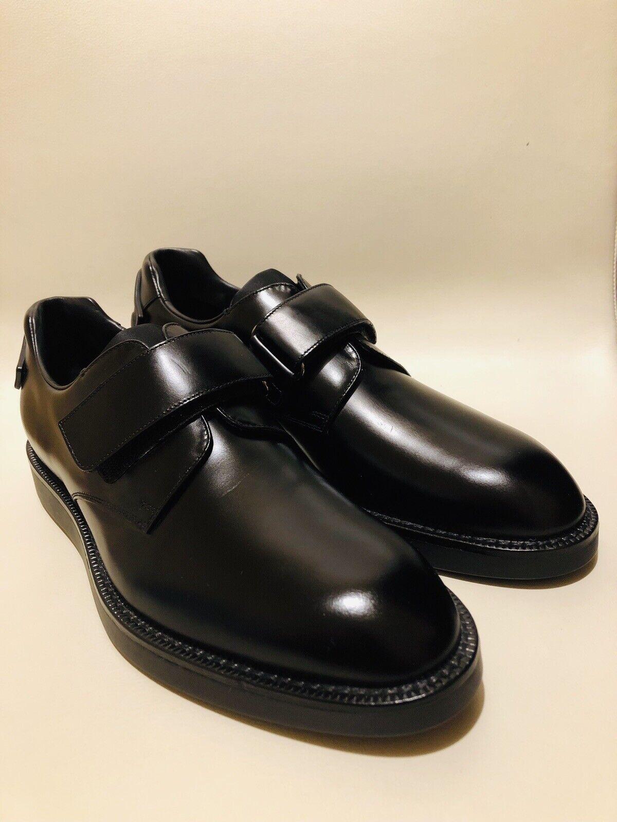 Prada Men's Derby Heel Logo Monk shoes Size     US 7