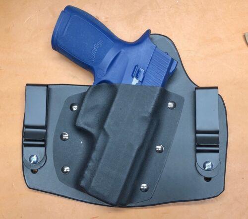 Leather Kydex hybrid IWB holster for Sig Sauer P320c