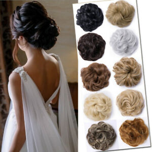 Real-Thick-Curly-Messy-Bun-Hair-Piece-Scrunchie-100-Natural-Hair-Extensions-J83