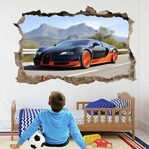 Bugatti Veyron Super Car 3d Wall Art Stickers Decal Poster Kids Boys Room Bd56 Ebay