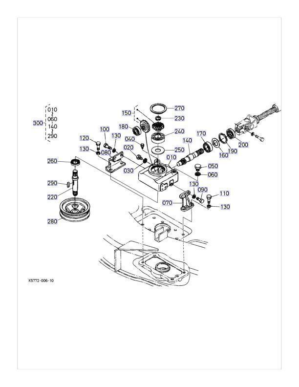 kubota rck60 24b mower deck parts