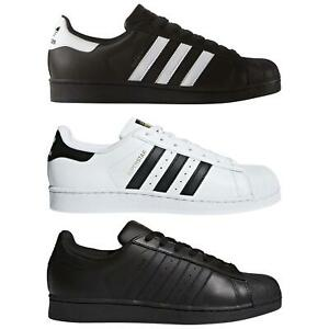 completar Reverberación alto  adidas ORIGINALS SUPERSTAR TRAINERS FOUNDATION SHELL TOE SHOES SNEAKERS  LEATHER | eBay