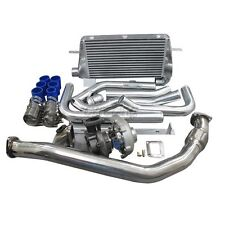 Turbo Kit + Intercooler Downpipe Oil Line For 1986-1992 Supra 7MGTE MK3