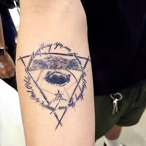 Alchemist Tattoo Realistic Temporary Tattoo Men Tattoo Hipster ...
