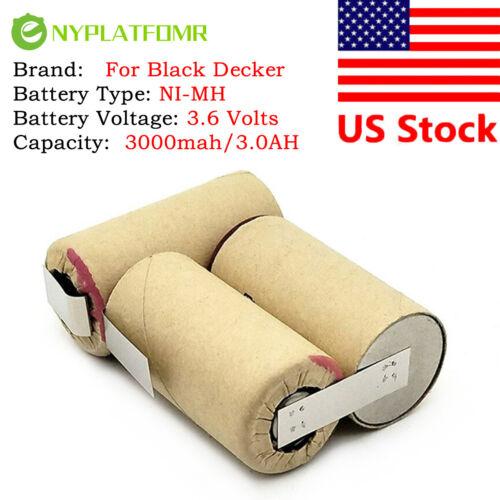 3000mAh for Black Decker 3.6V Ni MH Battery pack CD vacuum cleaner Dustbuster