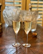 Pair of Lalique Angel Champagne Flutes - MINT and GIFT BOXED