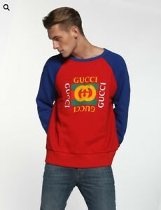 d4f355e61b66 Image is loading Gucci-Cotton-Logo-Jumper