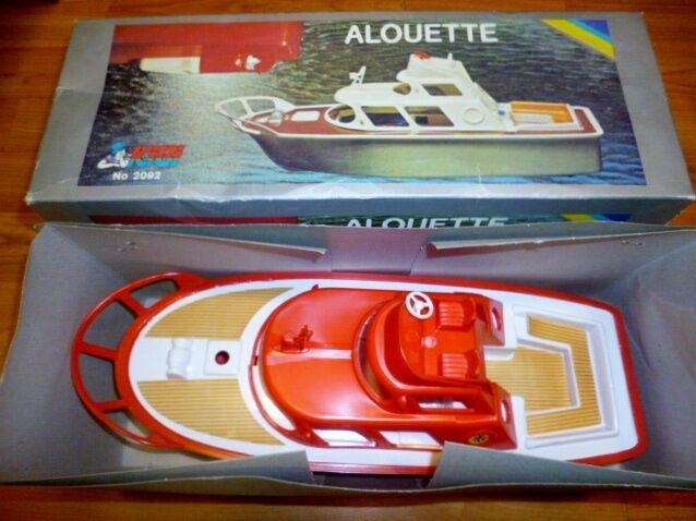 AMAZING VINTAGE RARE GREEK B O - ALOUETTE - FISHING  BOAT NEW MIB BY KIBI 70s
