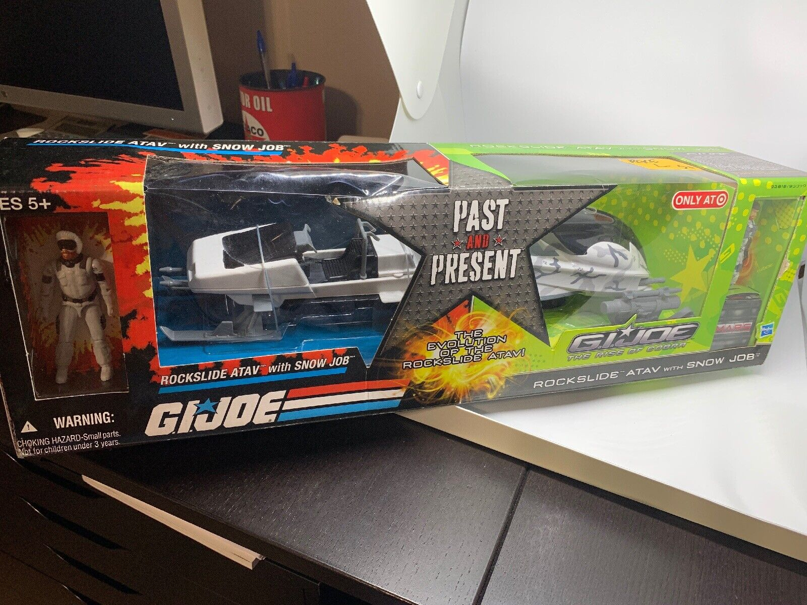 Gi Joe Past Present Rockslide 2 Pack Vehicles Sealed Great Condition