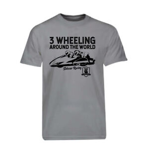 Grey-3-Wheeling-T-shirt-Official-3-Wheeling-Around-the-World-Sidecar-Racing-Tee