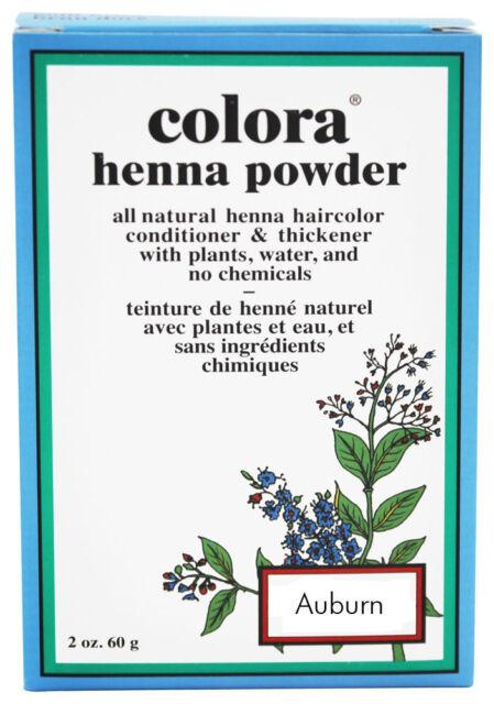 Colora Henna All Natural Organic Powder Hair Color 2oz  AUBURN