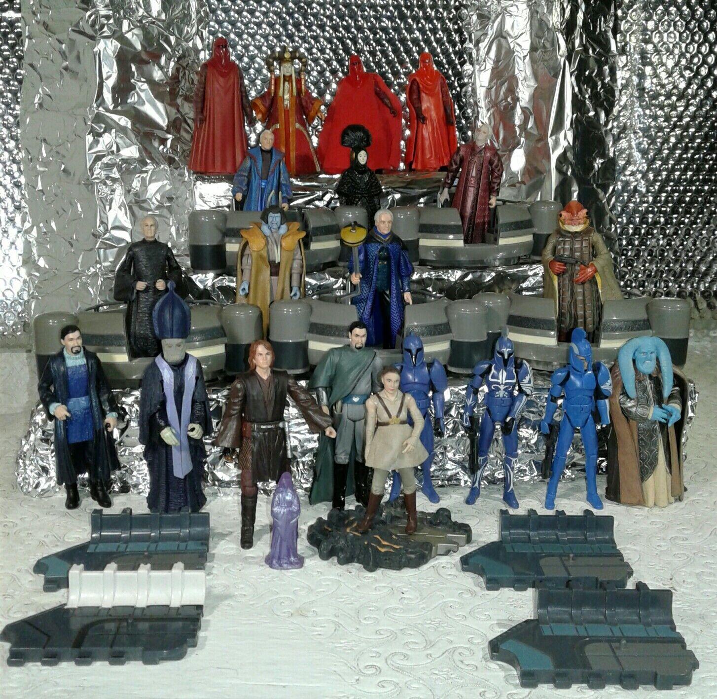 Star wars Senate counsel pods × 5 + 21 21 21 action figures commander Argyus 8a531d