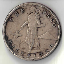 1908 S  FILIPINAS ONE PESO SILVER COIN PHILIPPINES  DBW