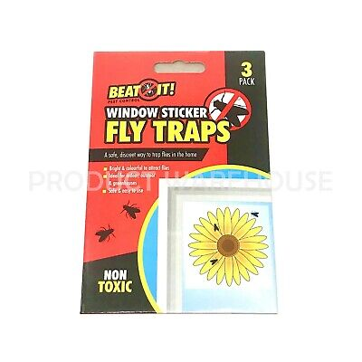 for Indoor Insect Pest Attract and Eliminate Windows Fly Trap Stickers 30 PCS Fly Paper Catcher