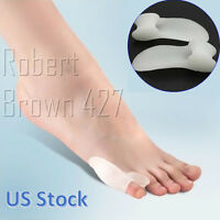 2pcs Silicon Bunion Corrector Little Toe Straightener Separator Protector Pair