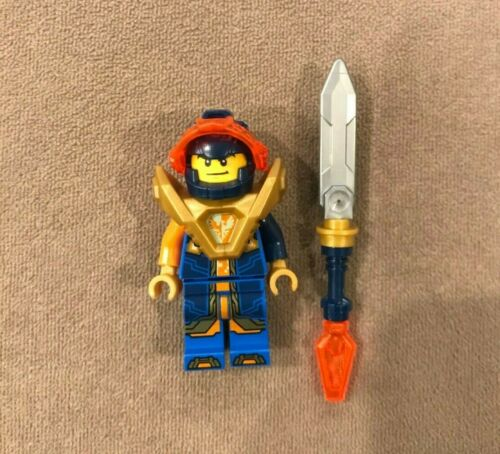 Lego Nexo Knights NEW Clay Trans-Orange Visor Minifigure nex140