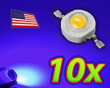[10x] 1W Bright Blue High Power LED Lamp Beads 40-50Lm 1 Watt