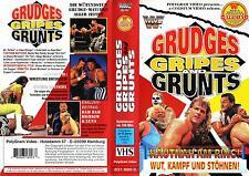 WWF WWE Grudges Gripes and Grunts VHS orig Wrestling