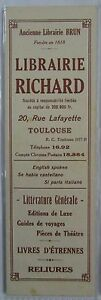 Antique-Brand-Pages-Bookmark-Advertising-Bookstore-Richard-in-Toulouse-Clockwork