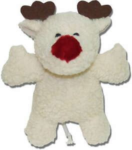 Rudolf-REINDEER-two-squeaker-deer-dog-toy-plush-pet-toys-puppy-free-shipping-B4