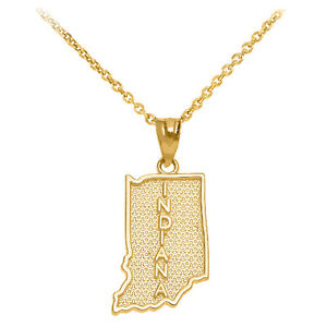 10k-Yellow-Gold-Indiana-State-Map-United-States-Pendant-Necklace