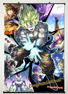 Super Fighting Hot Japan Anime 60*90cm Wall Scroll Poster gift Dragon Ball Z