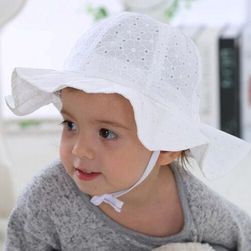 Baby Kinder Mädchen Kinderhut Sonnenhut Sommermütze Mütze Sonnenschutz Baumwolle